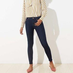 Ann Taylor LOFT Modern Skinny Jeans in Dark Rinse